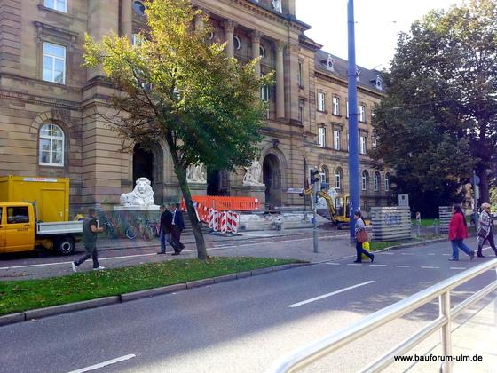 Ulm  Sanierung Landgerich Oktober 2012
