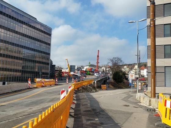 Neue Brücke Linie 2 Januar 2017