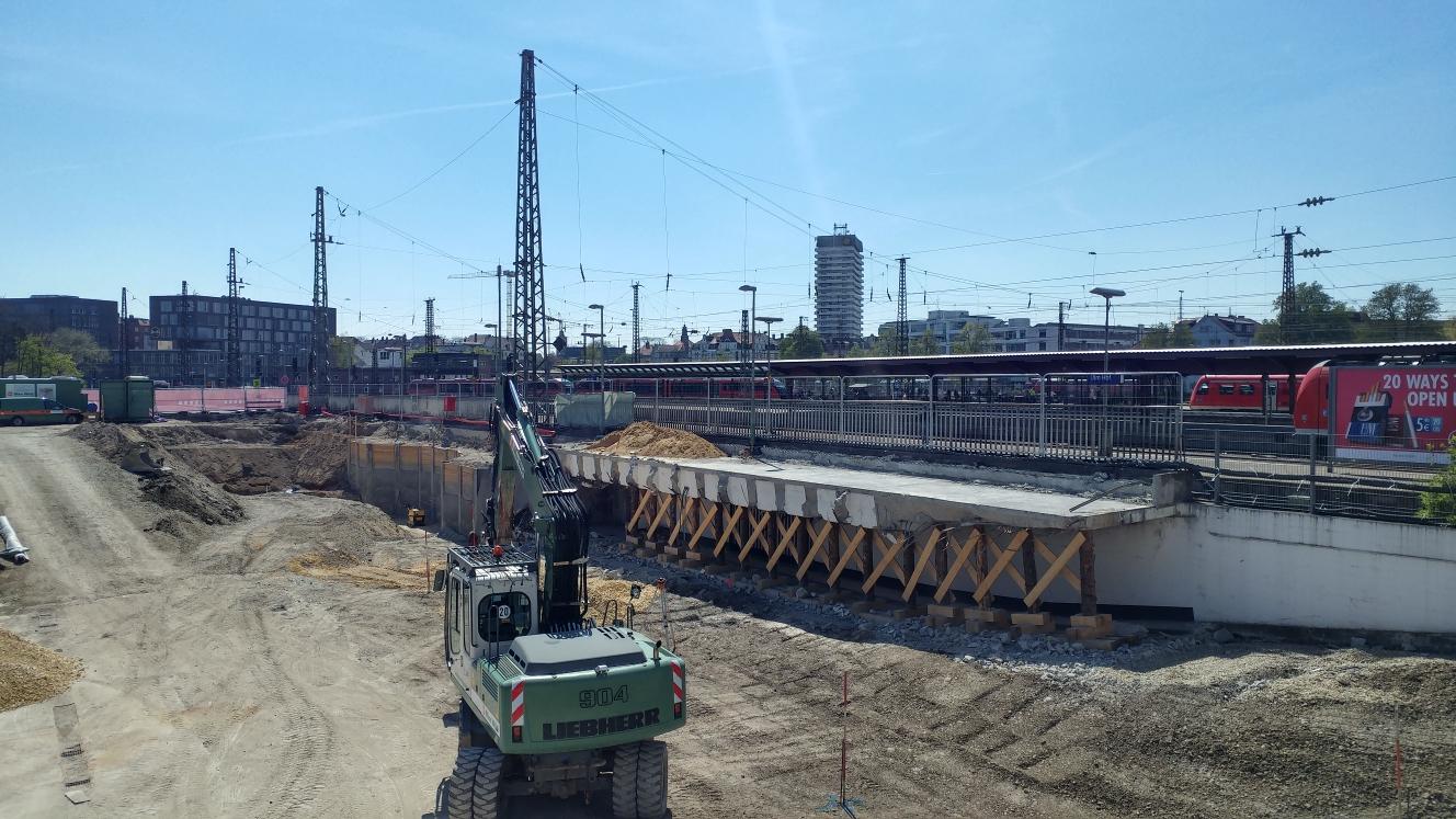 Neubau Bahnhof  Tiefgarage April 2017