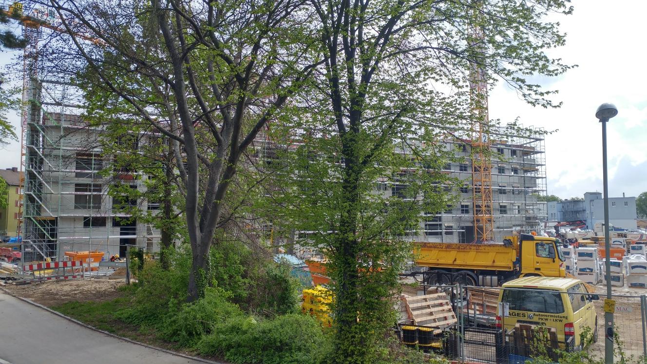 Dichterviertel Quartier und Hotel Neubau Mai, 2017