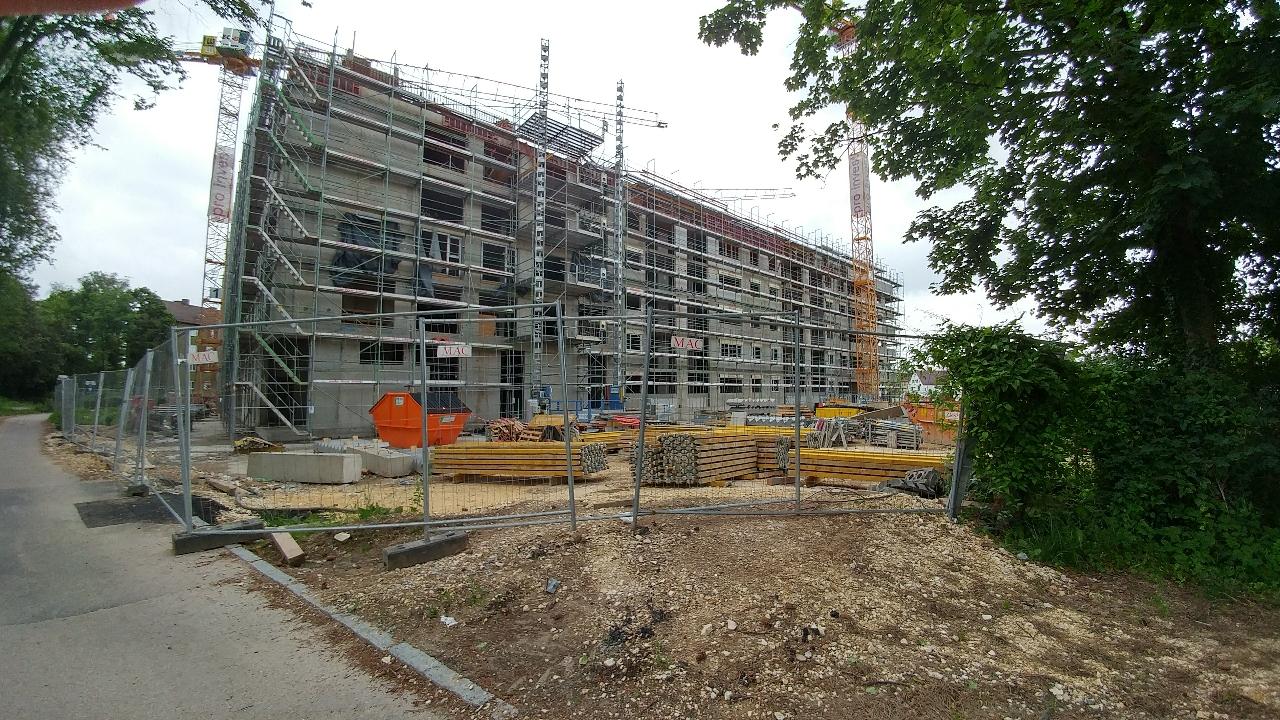 Neubau Dichterviertel Quartier und Hotel Ulm Juni 2017