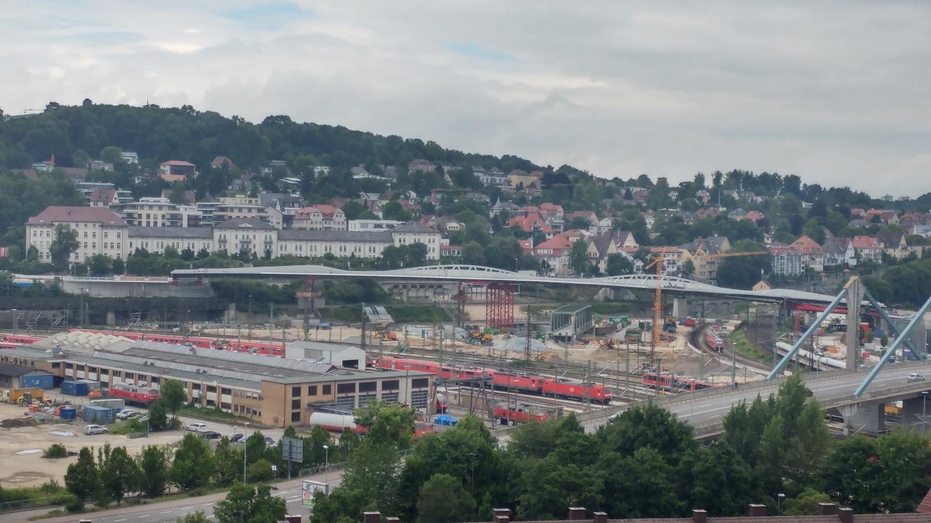 Neubau Straßenbahnbrücke Linie 2 Ulm Juli 2017