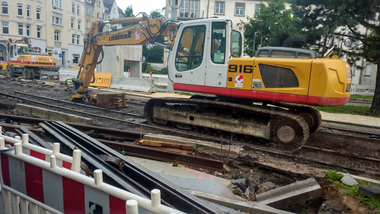 Ulm Linie 2 im Bau Juli 2017