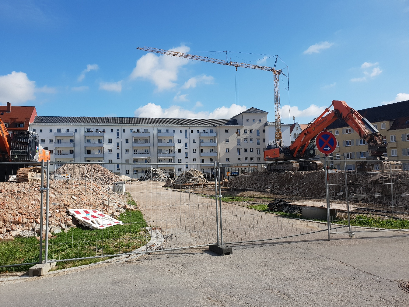 Ulm Abriss Postdörfle Wörthstraße Juni 2018
