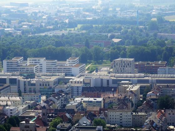 Blick auf Neu Ulm Juni 2018