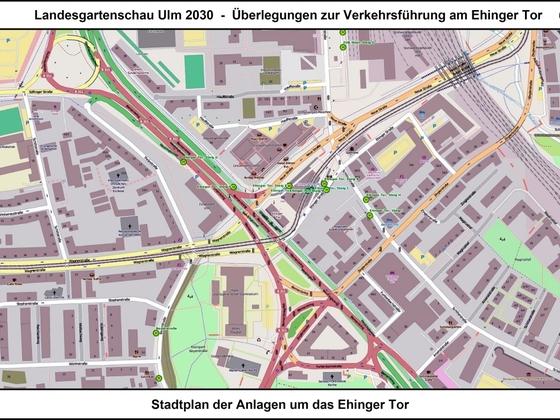 LGS Ulm 2030 - Überlegungen zur Verkehrsführung am Ehinger Tor 06 17x12cm