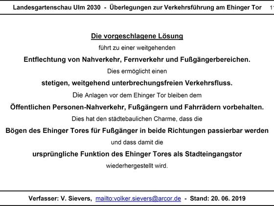 LGA Ulm 2030 - Überlegungen zur Verkehrsführung am Ehinger Tor 11 17x12cm
