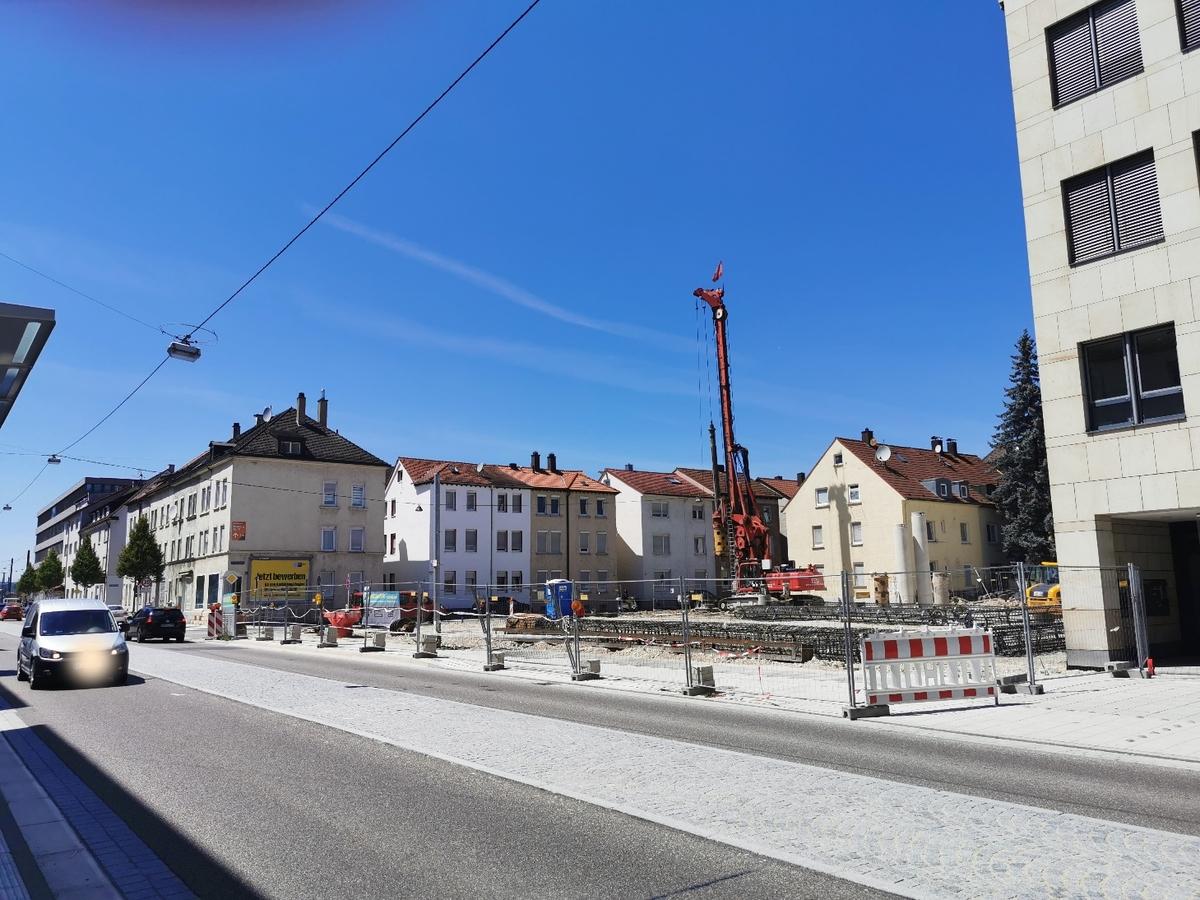 Ulm Neubau Karlstraße Juli 2019