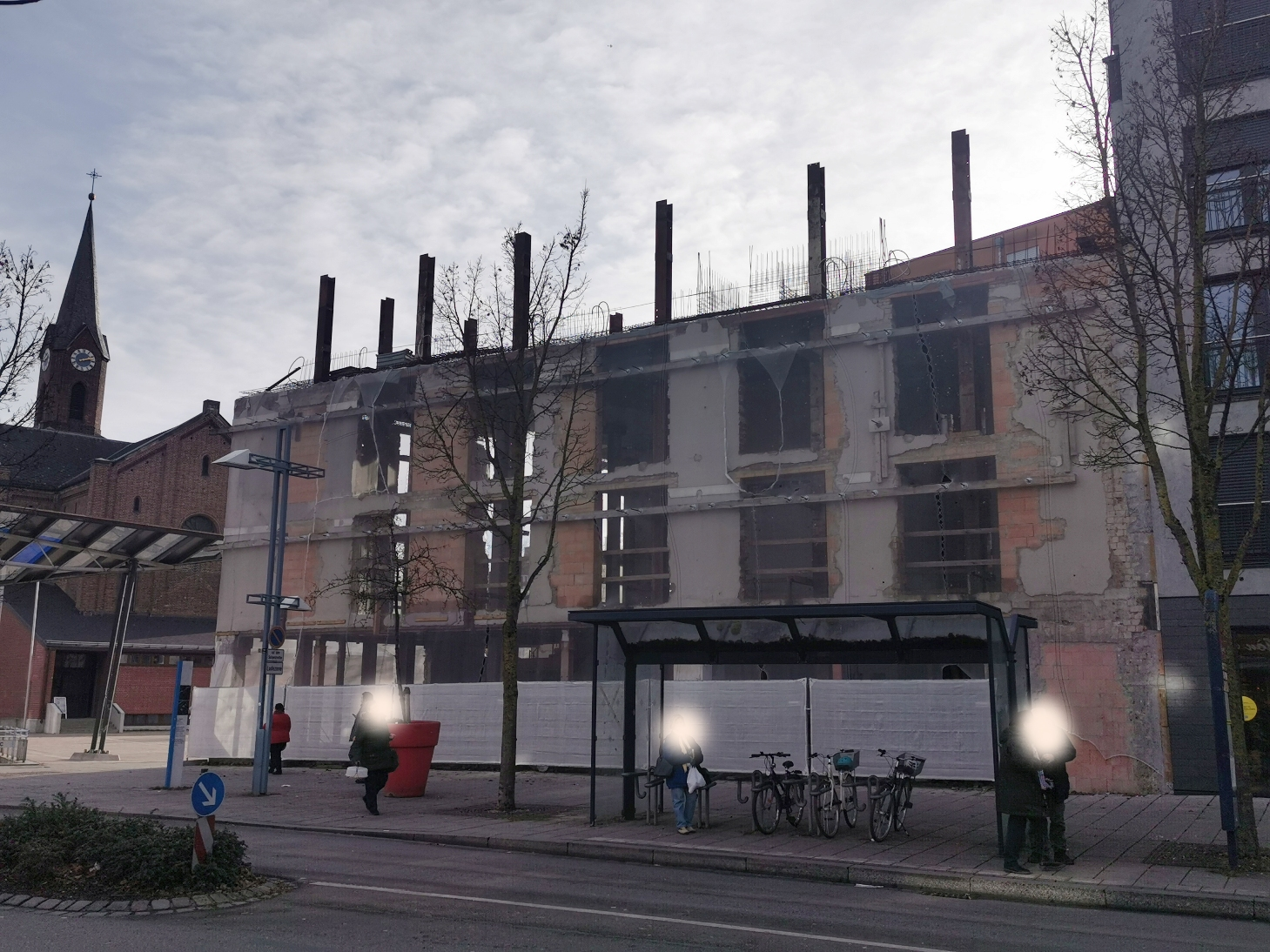Neu-Ulm Petrusplatz Januar 2020