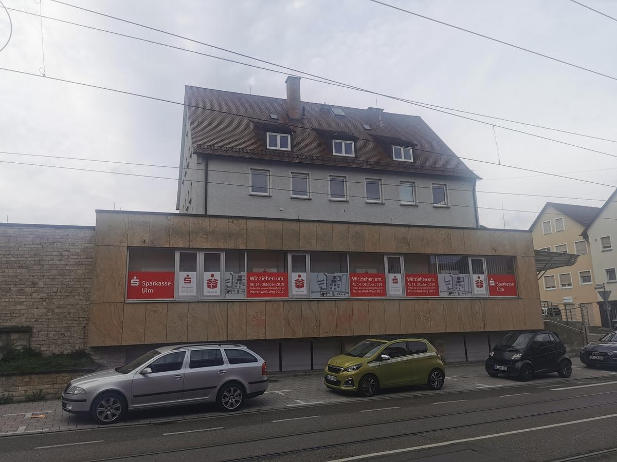 Ulm, Neubau, Quartier, Ehemalige Sparkasse Söflingen, August  2020