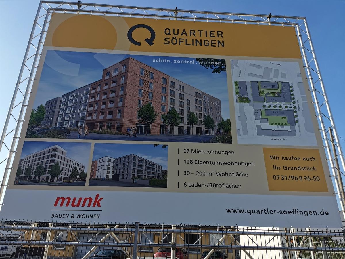 Ulm, Quartier Söflingen, Dezember 2020