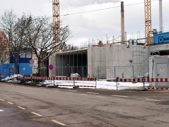 Ulm Neubau Söflinger Straße Januar 2021