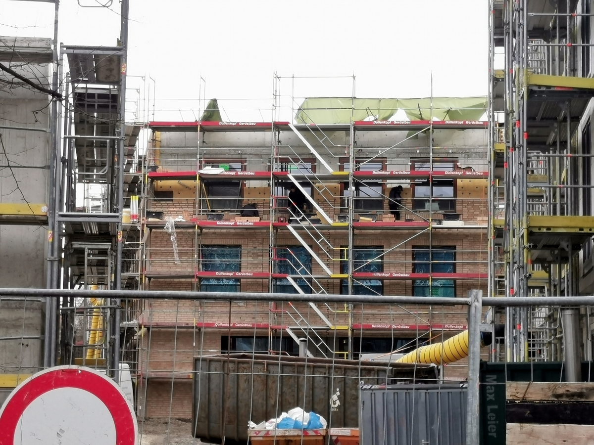 Ulm, Neubau Siedlungswerk, Februar 2021