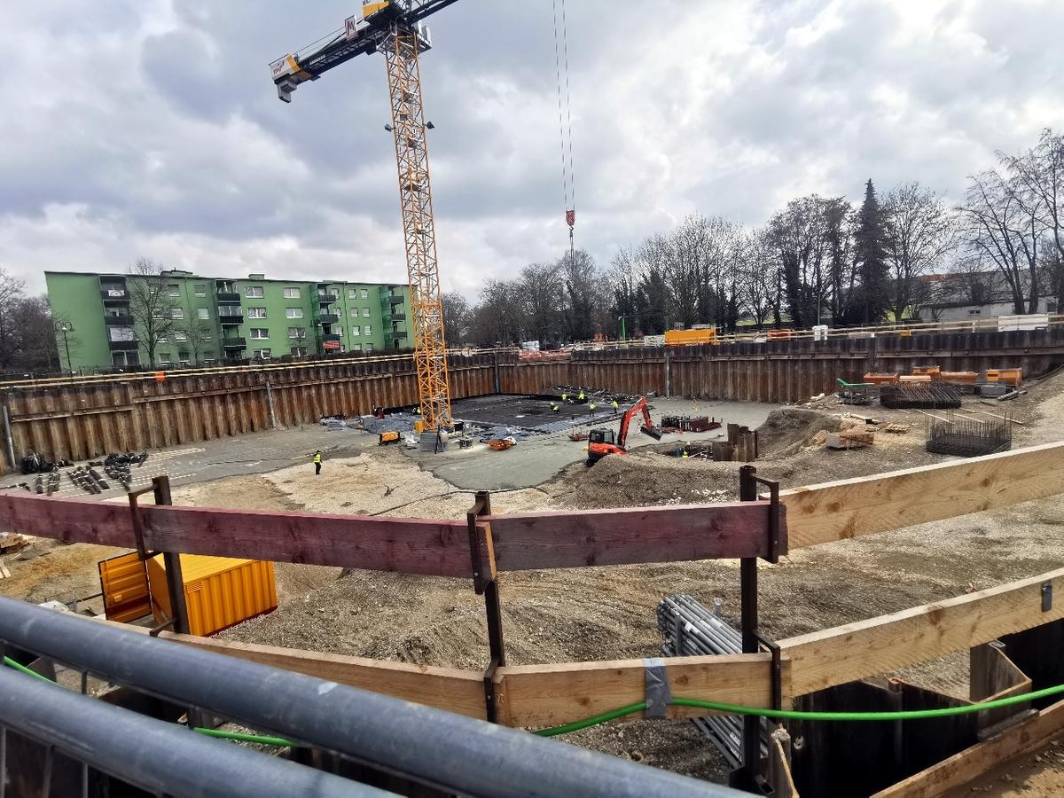 Neu-Ulm, Das grüne Haus am Ring, März 2021