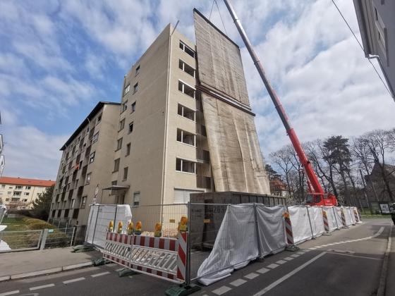 Ulm, Abriss, Bayerstraße 14, April 2021