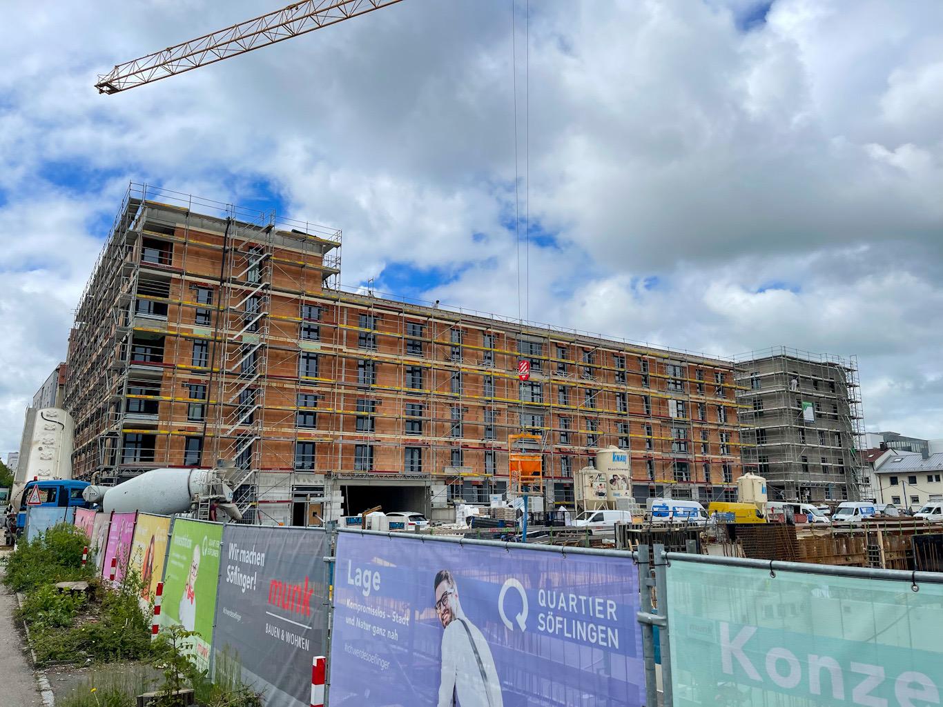 Ulm, Neubau, Quartier Söflingen, Juni 2021