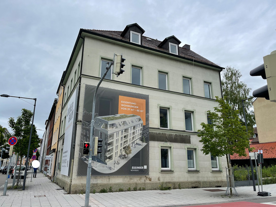 Neu-Ulm, Abriss Gaststätte Grüner Baum , Neubau, Juli 2021