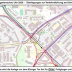 LGA Ulm 2030 - Überlegungen zur Verkehrsführung am Ehinger Tor 10 17x12cm