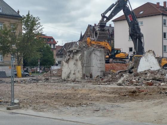Ulm Abriss Olgastrasse Justizhochhaus  September 2017