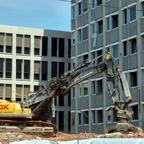 Ulm Abriss Justizhochhaus Juni 2017