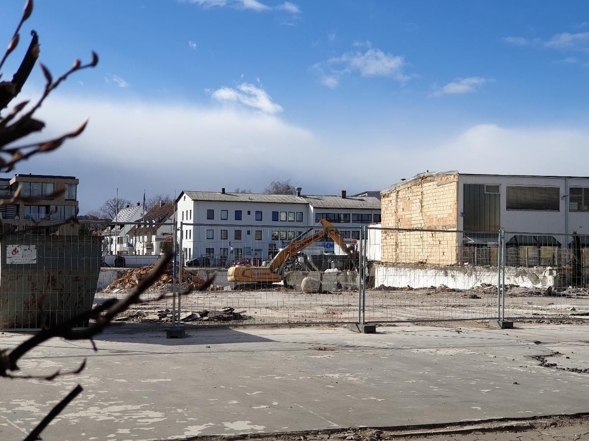 Abriss Walz Areal März 2019
