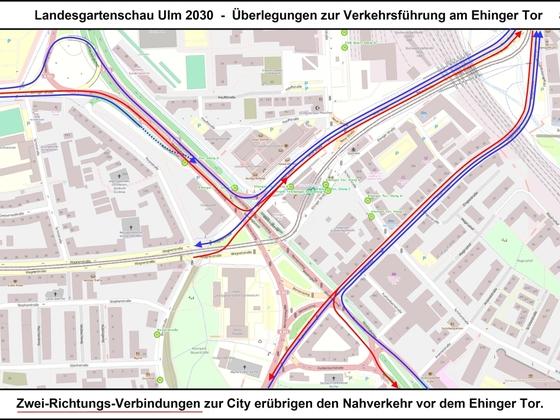 LGA Ulm 2030 - Überlegungen zur Verkehrsführung am Ehinger Tor 08 17x12cm
