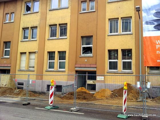 Ulm Wohn- und Einkaufsquartier Sedelhöfe  Abriss der Bestandsbebauung Januar 2013 (3)