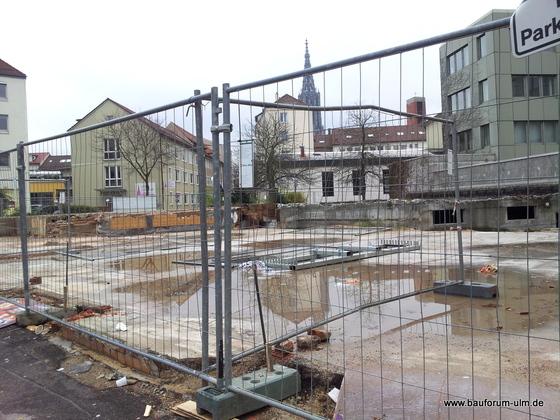 Ulm Abriss Bestandsbebauung Neubau Wohn und Einkaufsquartier Sedelhöfe November 2012