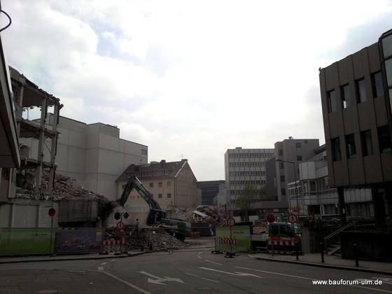 Ulm Wohn- und Einkaufsquartier Sedelhöfe  Abriss der Bestandsbebauung Mai 2013 (2)