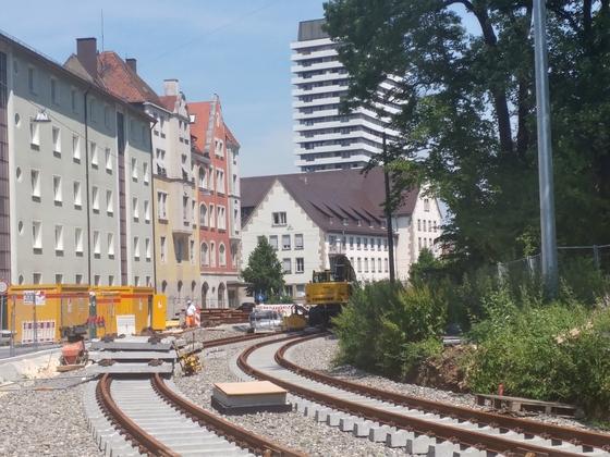 Erweiterung Linie 2 Gleisverlegung 2017