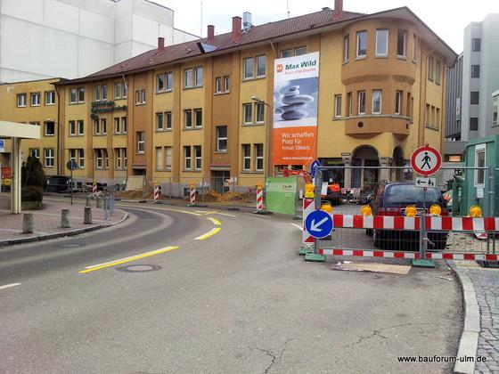Ulm Wohn- und Einkaufsquartier Sedelhöfe  Abriss der Bestandsbebauung Januar 2013 (2)