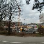 Ulm Quartier Dichterviertel Rohbauarbeiten Februar 2017