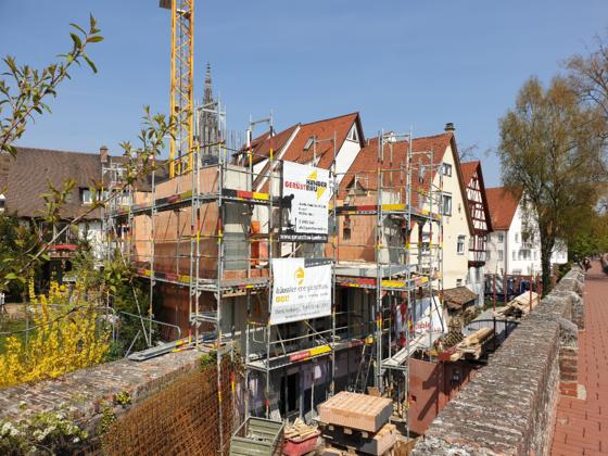 Neubau an der Stadtmauer April 2019