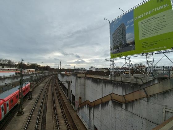 Neu Ulm   Südstadtbogen   Südstadtturm November 2017
