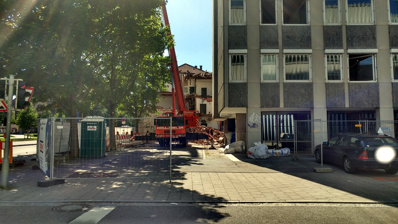Abriss Justizhochhaus Ulm