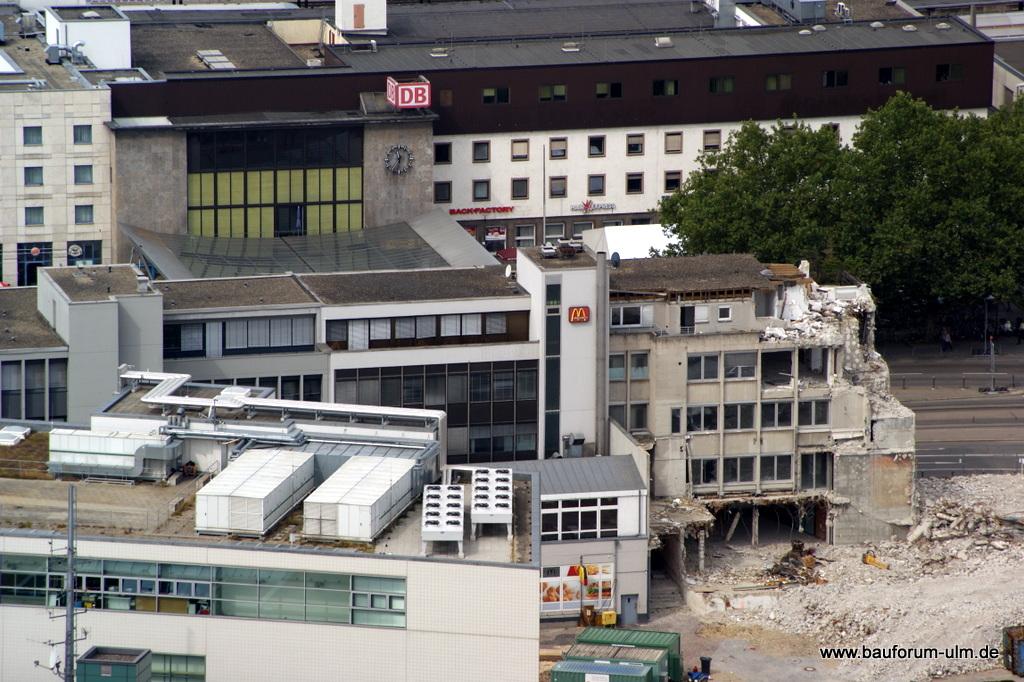 Ulm Wohn- und Einkaufsquartier Sedelhöfe  Abriss der Bestandsbebauung August 2013 (5)