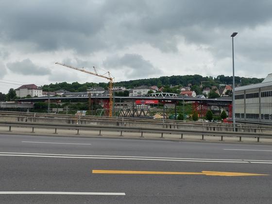 Neue Straßenbahnbrücke Linie 2 Ulm Juni 2017