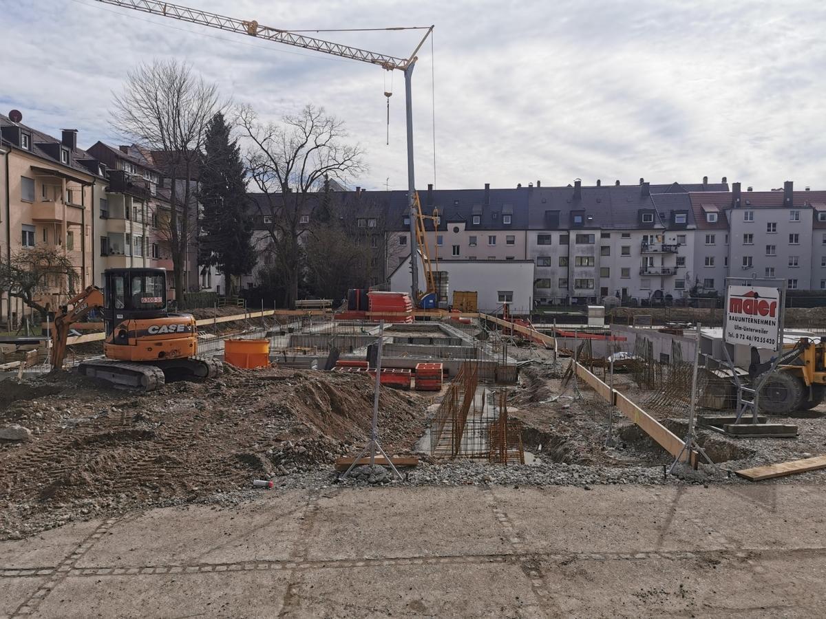 Ulm Neubau Weststadt März 2020
