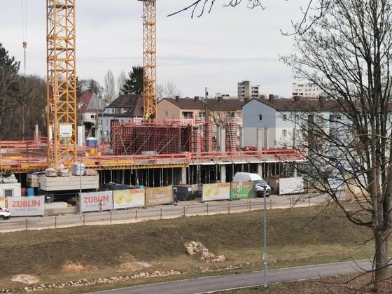 Ulm, Quartier Safranberg. Februar 2021
