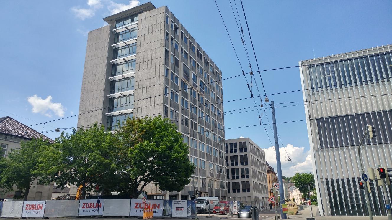 Ulm Abriss Justizhochhaus Olgastrasse Mai 2017
