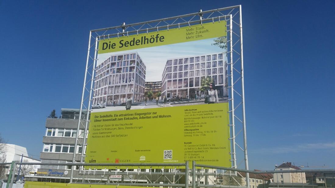 Ulm Neubau Sedelhöfe März 2015 1