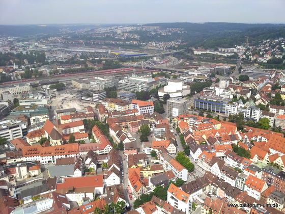 Ulm Neu Ulm  Panorama Baustellen Übersicht August 2013 (4)