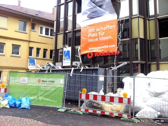 Ulm Wohn- und Einkaufsquartier Sedelhöfe  Abriss der Bestandsbebauung Januar 2013 (5)