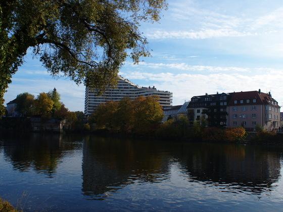 Neu Ulm Wohnen am Jahnufer  Alte Produktionsgelände der Firma Lebkuchen Weiss und die Flussmeisterei (2)
