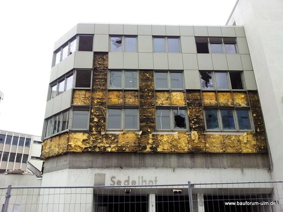 Ulm Wohn- und Einkaufsquartier Sedelhöfe  Abriss der Bestandsbebauung April 2013 (2)