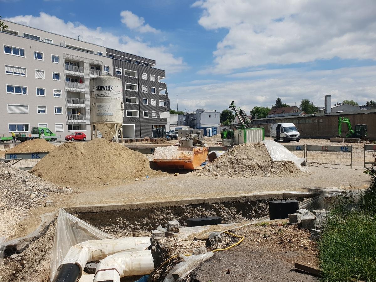 Ulm Neubau Dichterviertel Juni 2018