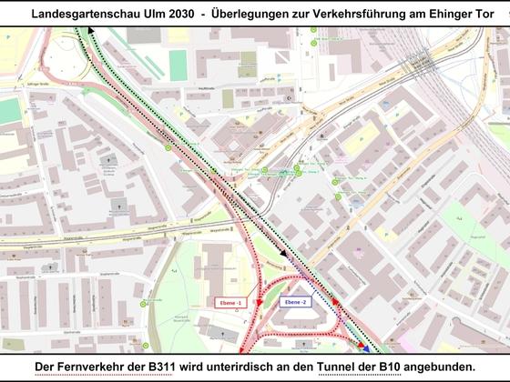 LGA Ulm 2030 - Überlegungen zur Verkehrsführung am Ehinger Tor 09 17x12cm