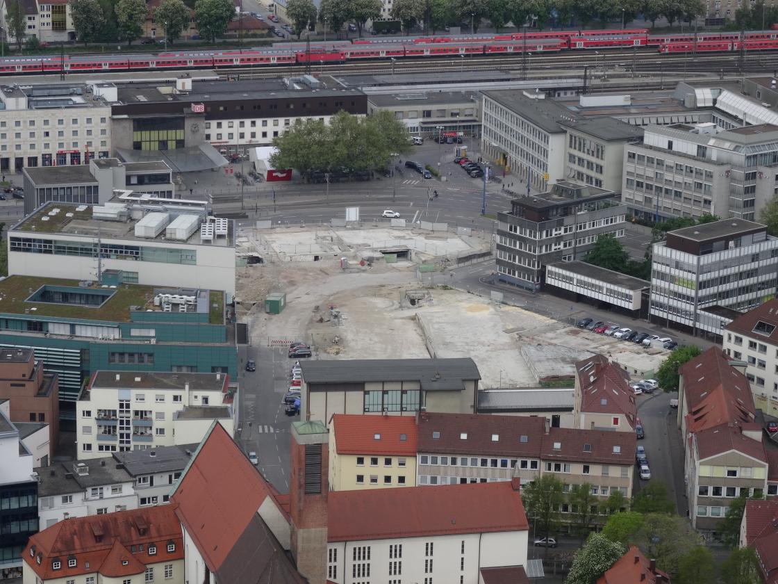 Ulm Bahnhofstraße Sedelhofgasse Wohn und Einkaufsquartier Sedelhöfe Mai 2014 (1)