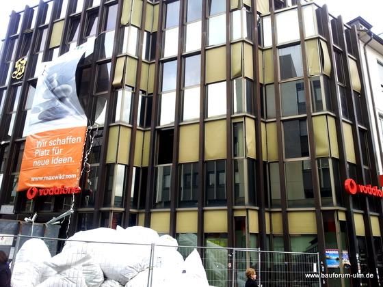 Ulm Wohn- und Einkaufsquartier Sedelhöfe  Abriss der Bestandsbebauung Januar 2013 (1)