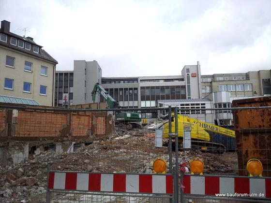 Ulm Wohn- und Einkaufsquartier Sedelhöfe  Abriss der Bestandsbebauung April 2013 (3)